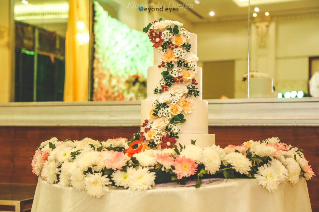Wedding cake and Flowers by design in Bangalore