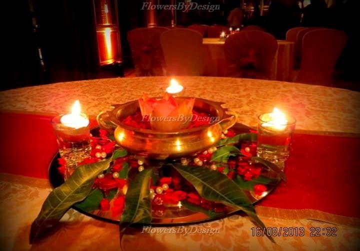 Candle Light Wedding Flower Decoration