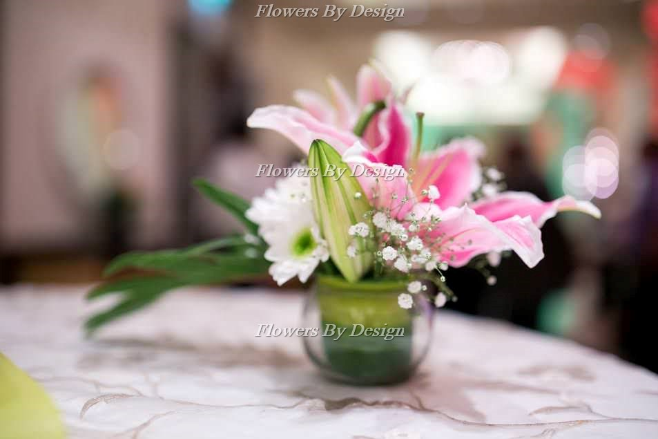 Pink Flower Pot Flowers by design in Bangalore