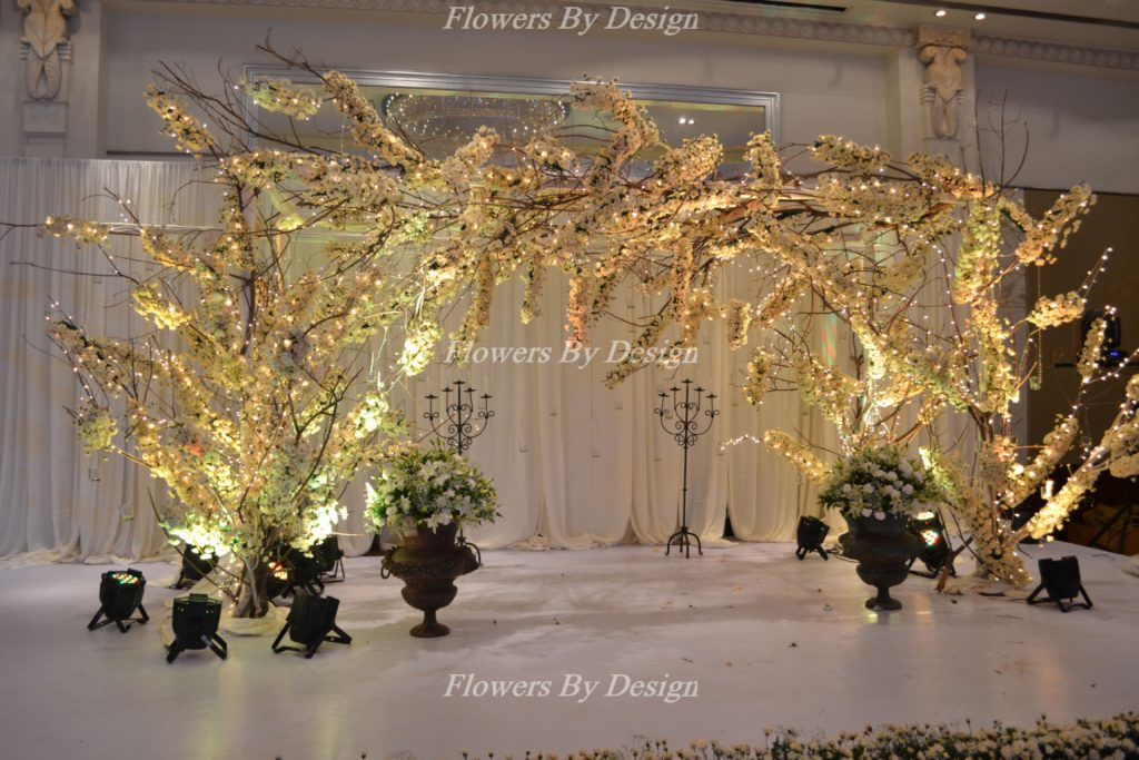 Lighting White Flowers by design in Bangalore