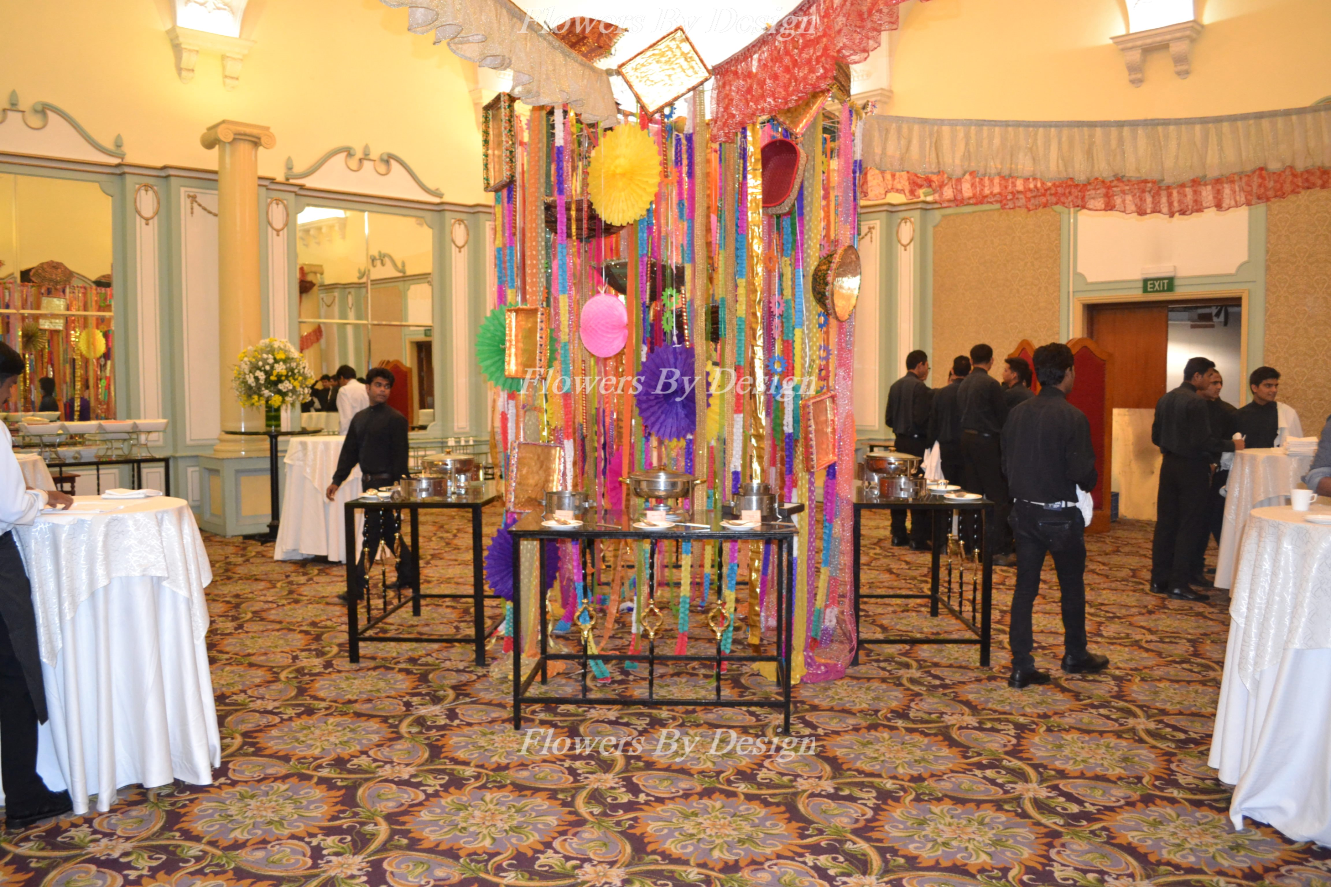 Dining hall Wedding Backdrop Decoration