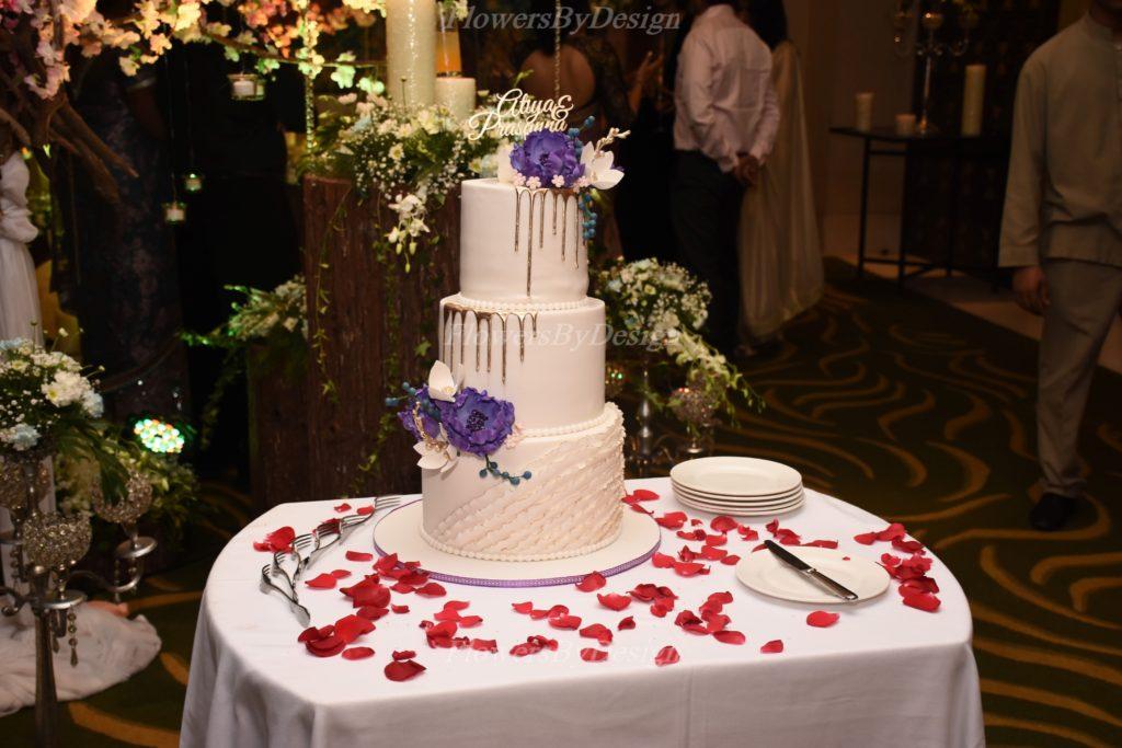 Red Rose Petals Cake - Wedding Decorators in Bangalore