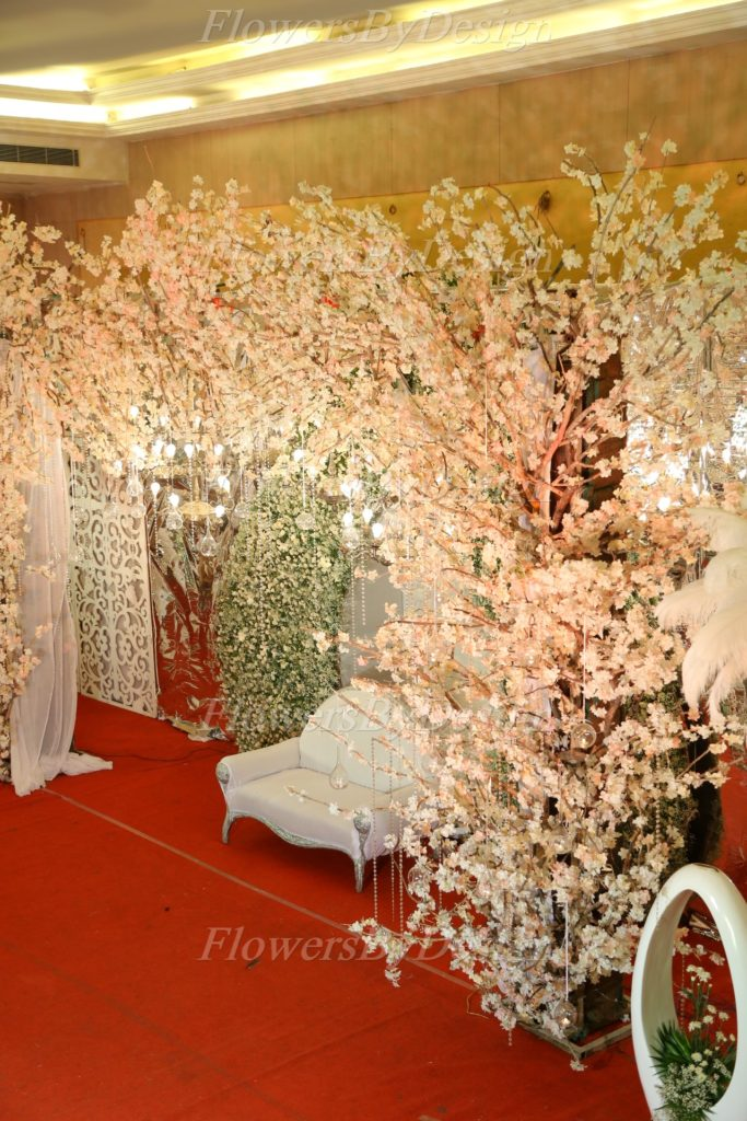 White Stage Flower Decoration