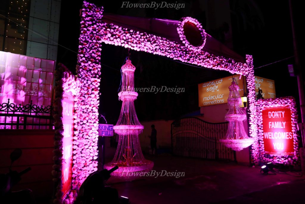 Pink Lighting - Wedding Flower Decorators in Bangalore