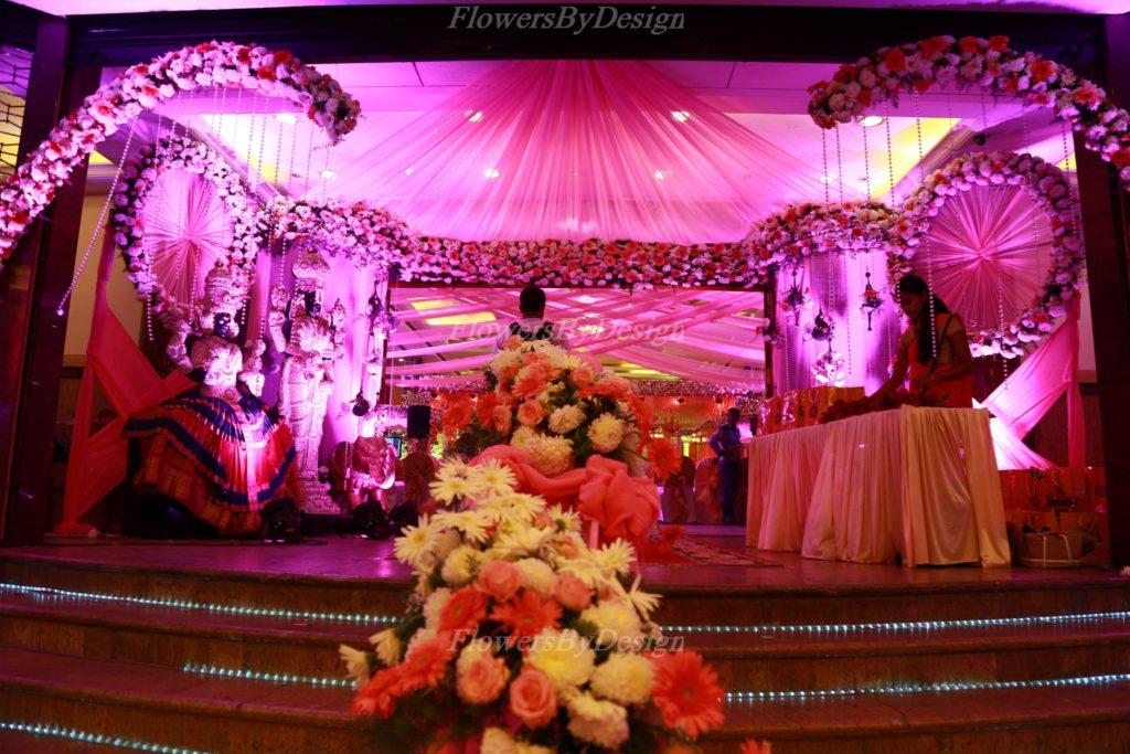 Pink Flower Light Stage Flower Decoration