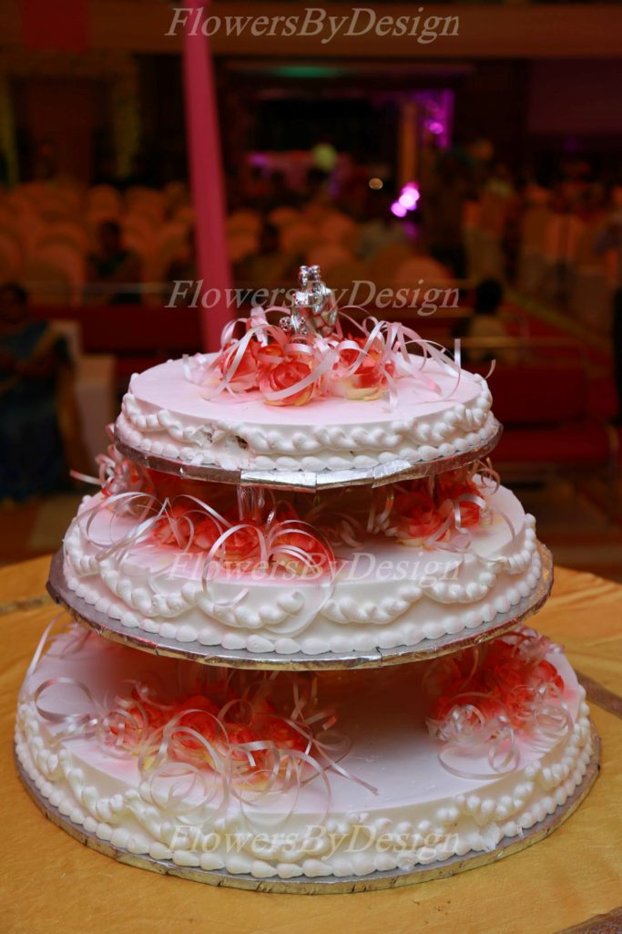 Wedding cake - Flowers by design in Bangalore