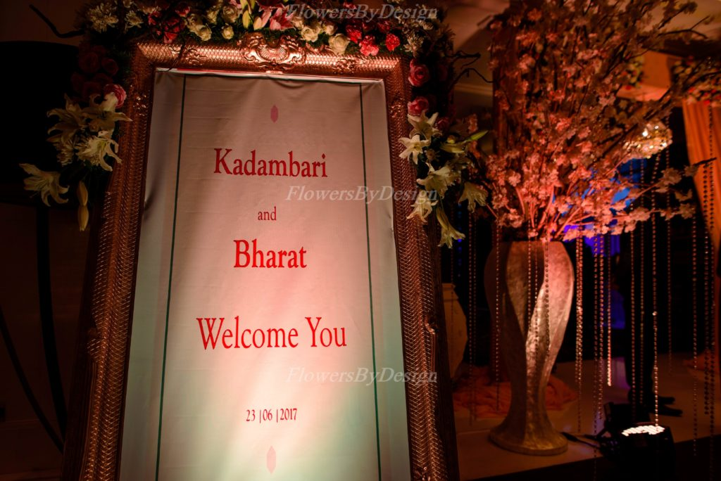 Name Board For Wedding - Flowers By Design Bangalore