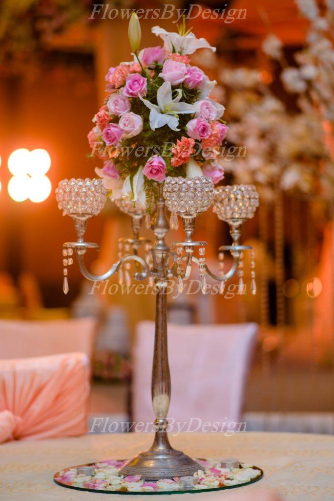 Pink Flower Stand - Wedding Decorators in Bangalore