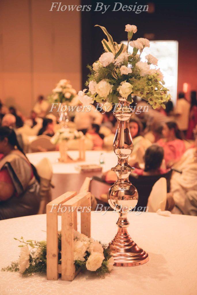 White Flower Pot - Wedding Flower Decoration