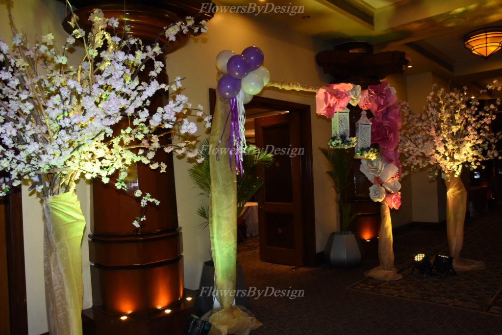 Pink and White Balloon Decoration For Wedding In Bangalore