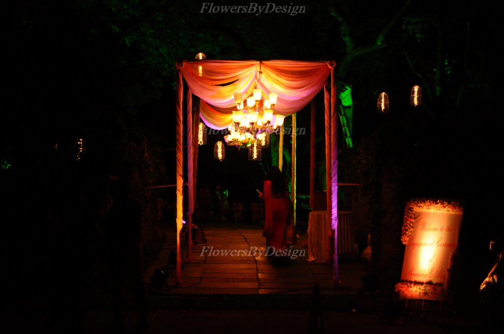 Open Lawn Stage Decoration and Lighting - Flowers By Design in Bangalore