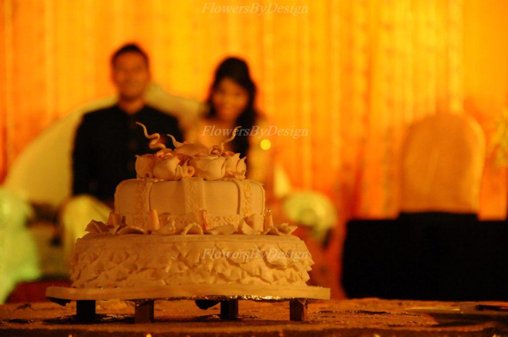 Wedding cake - Stage Flower Decoration