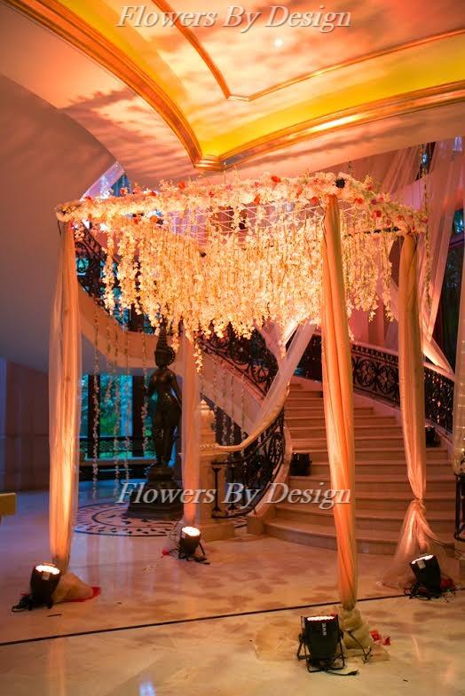Wedding Lighting And hanging Flower Decoration in Bangalore
