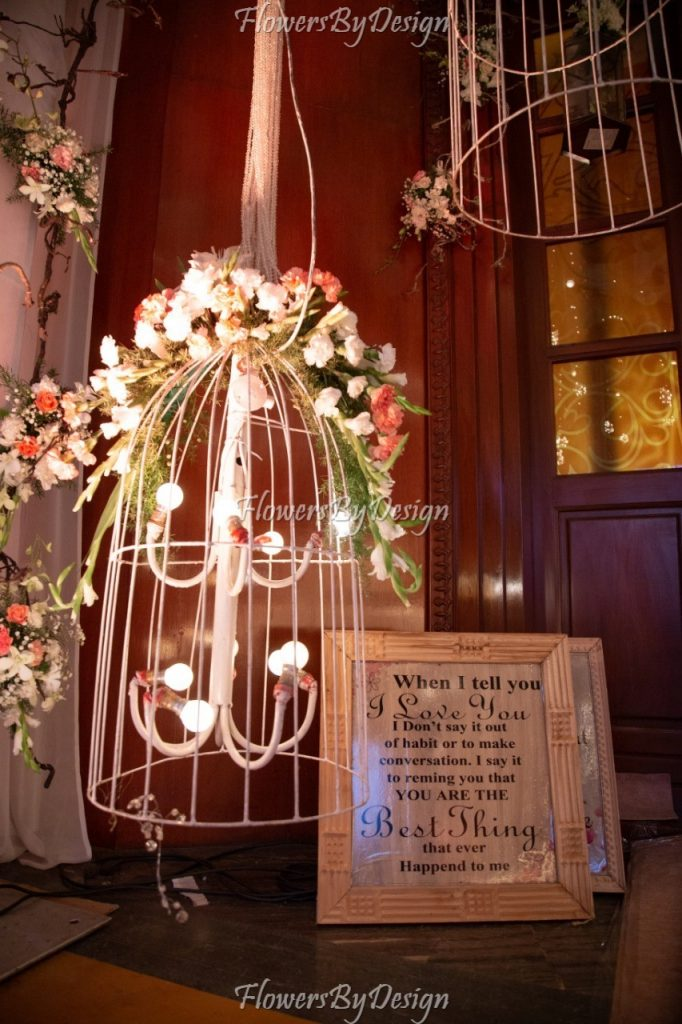 Story Board For wedding - Stage Flower Decoration