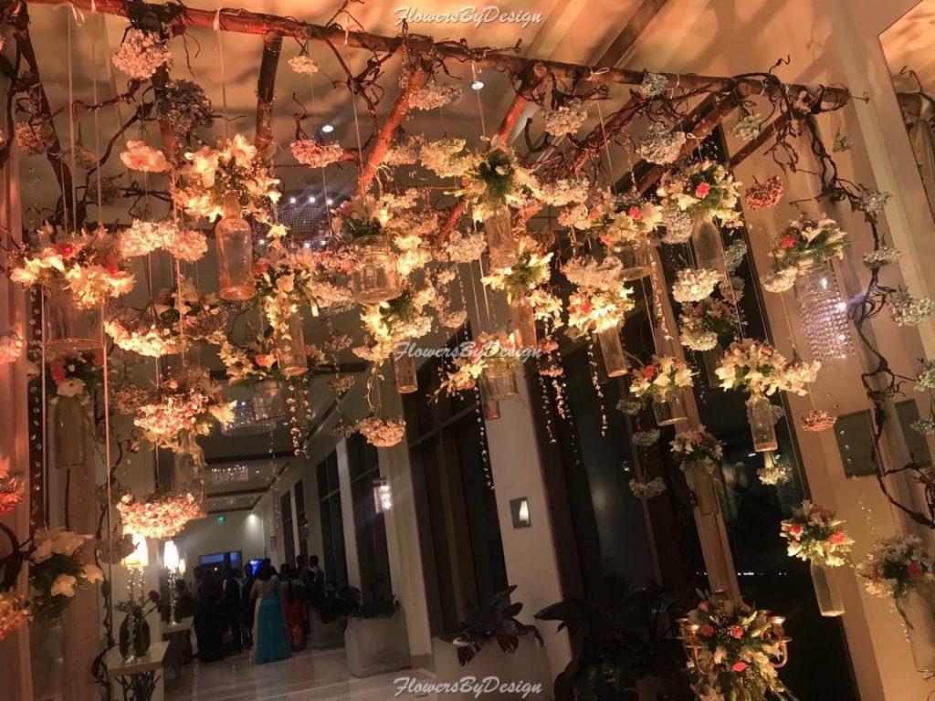 Hanging wedding Lights - Wedding Flower Decorators in Bangalore