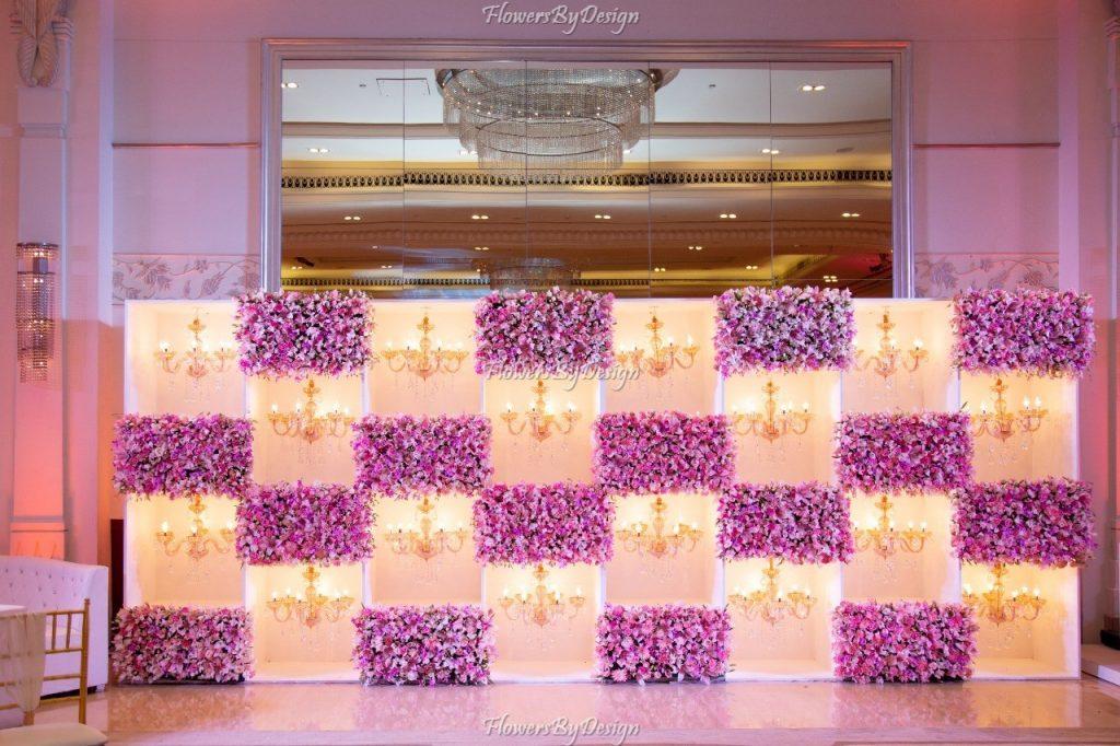Pink Flower Wedding Backdrop Decoration