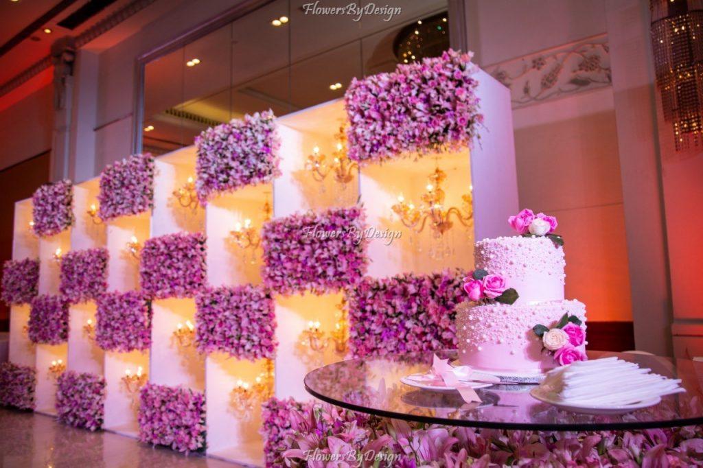 Wedding Backdrop Decoration - Theme Pink
