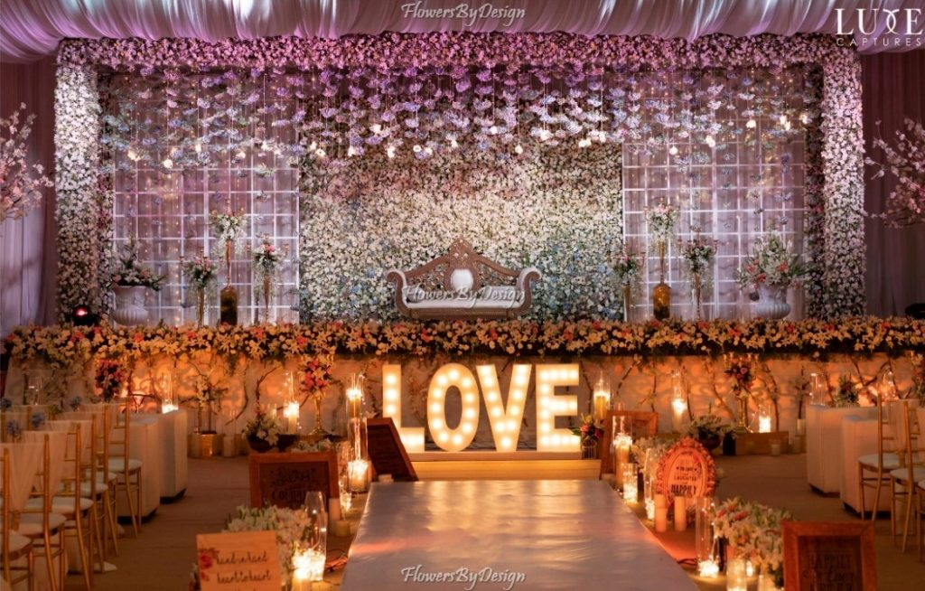 Seating and Wedding Backdrop Decoration