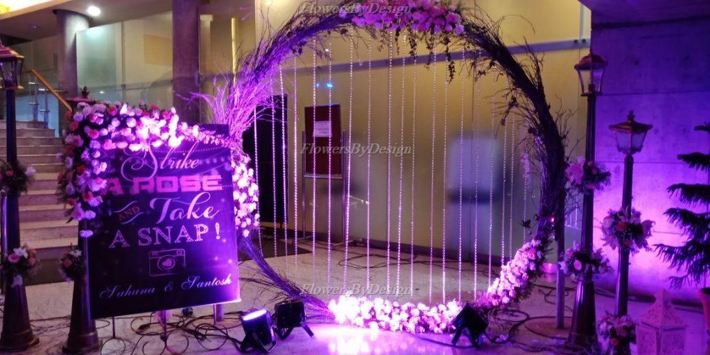 Wedding Decoration in Bangalore with Photobooth